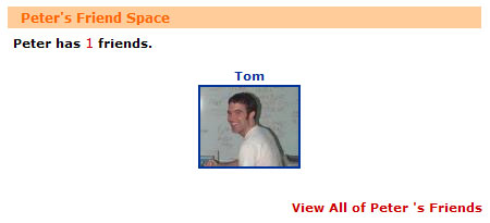 MySpace Friend, I don't even know the guy!